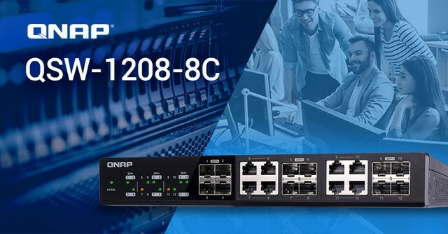 A QNAP bemutatja az új 10GbE QSW-1208-8C és QSW-804-4C 10GbE/NBASE-T switch-eket
