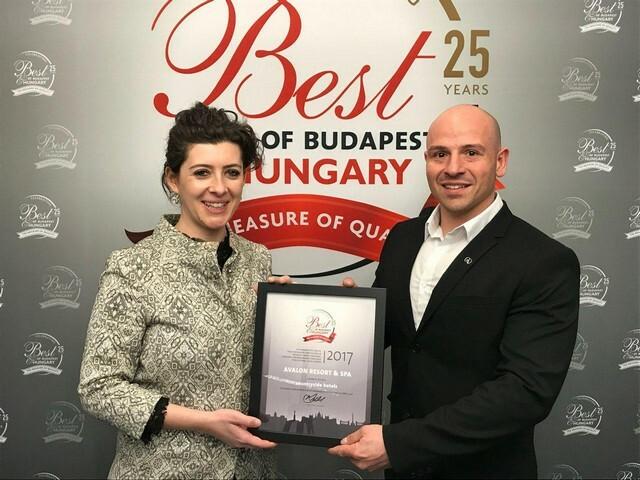 Magyarország legjobb vidéki szállodája az Avalon Resort & SPA