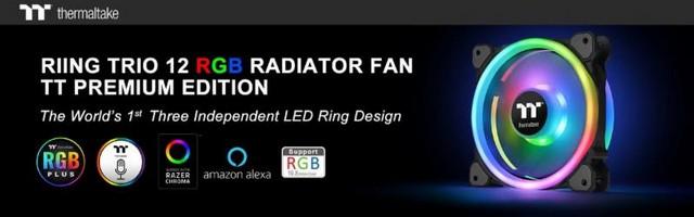 Bemutatkozik a Riing Trio 12 RGB Radiator Fan TT Premium Edition