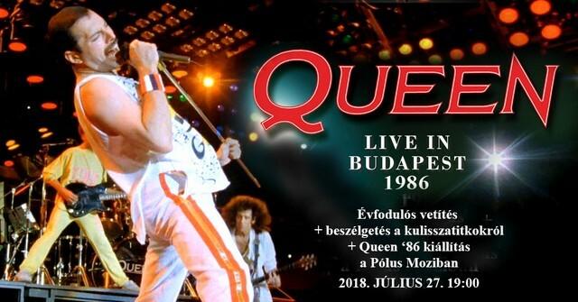 Queen-emlékprogram a budapesti koncert évfordulóján a Pólus Moziban