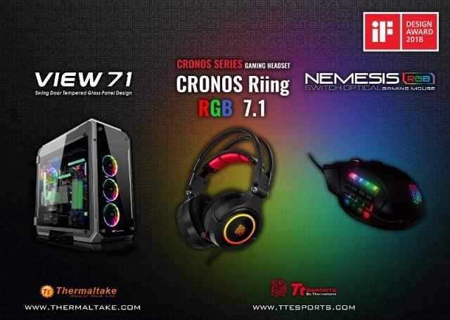 """A Thermaltake és a Thermaltake Gaming Tt eSPORTS megnyerte a """"2018-as iF Termék Dizájn Díjat"""""""